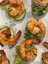 shrimp avocado zucchini bites
