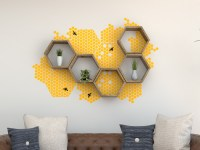 Vinyl Wall Decal | Wall Stickers | Honeycomb Decal | Wall ...
