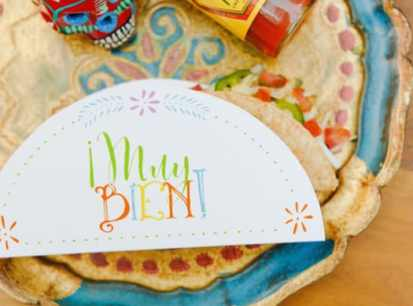 Wedding Chicks Free Printable Taco holder - make your own Taco Bar
