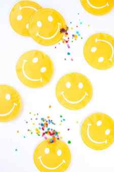 Smiley Favor Pouches