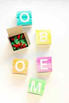 Watercolour Monogram Favor boxes