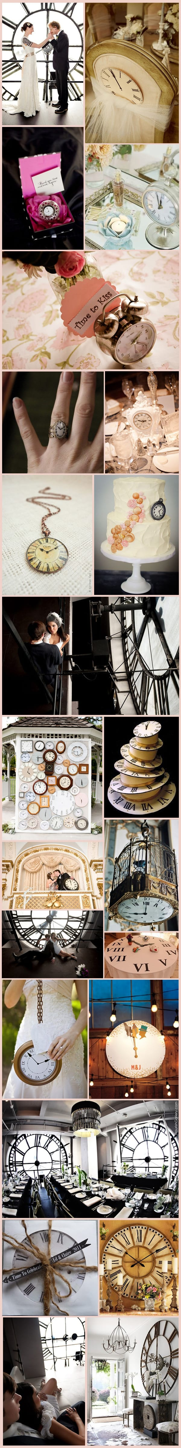 Clock Wedding Inspiration Board