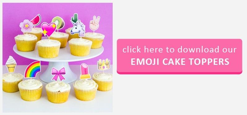 Emoji Cake Topper Button