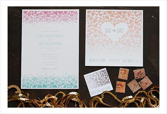 Free Printable Wedding Invitation Ombre