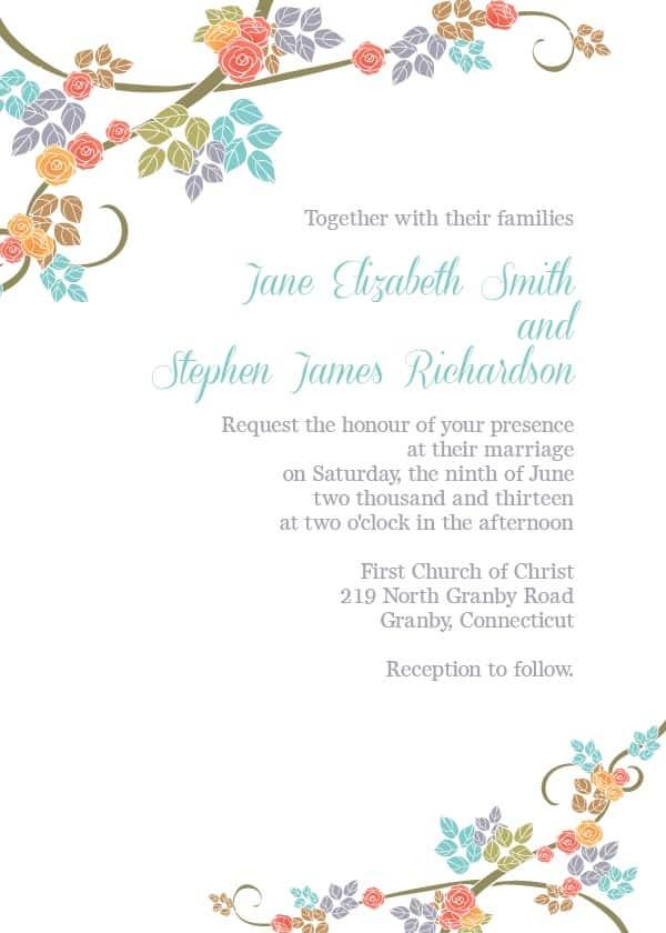 12 Editable Wedding Invitation Templates Free