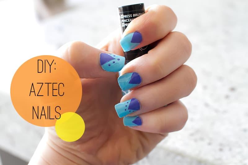 DIY Aztec Nails