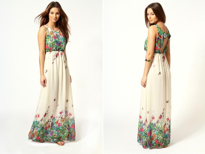Amie floral maxi dress