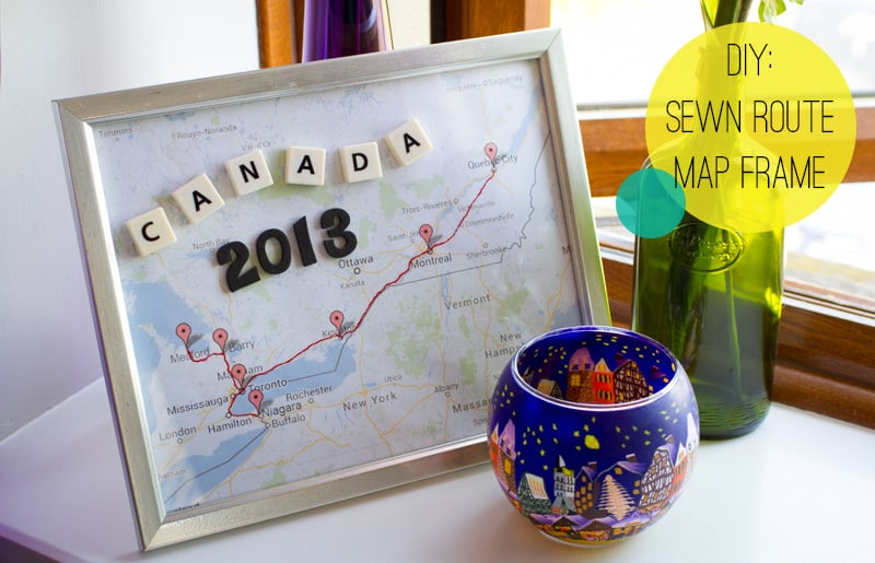 DIY Sewn Route Map Frame