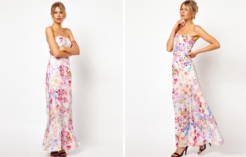 Print Maxi Dress Bridesmaid