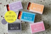 Wedding DIY: Match Box Favors with a Free Download ...