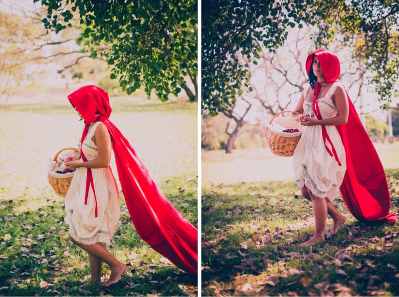Little red riding hood engagement