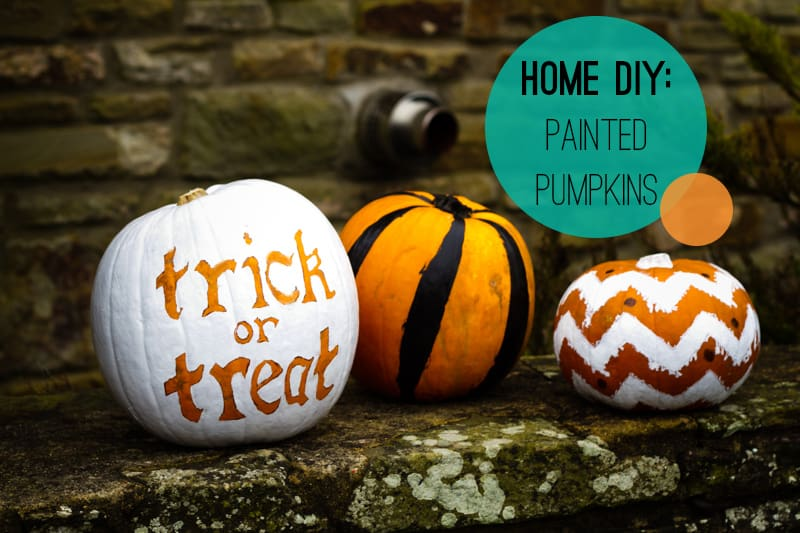 A DIY Pumpkin painting home crafts trick or treat decoration How To