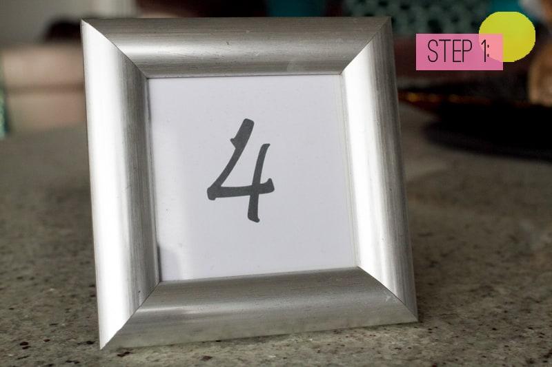 Table Number Lollipop Sticks