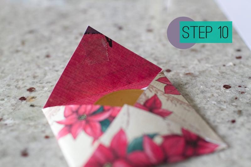 DIY How To Make A Christmas Advent Calendar with Envelopes-12