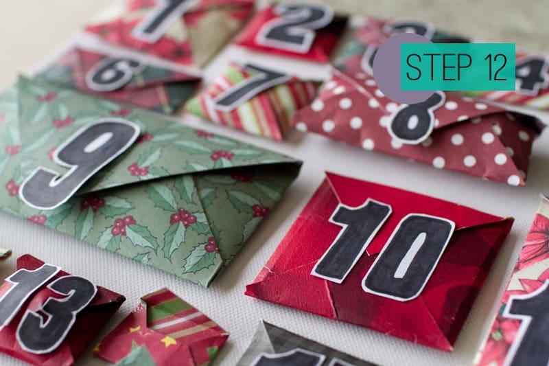 DIY How To Make A Christmas Advent Calendar with Envelopes-14