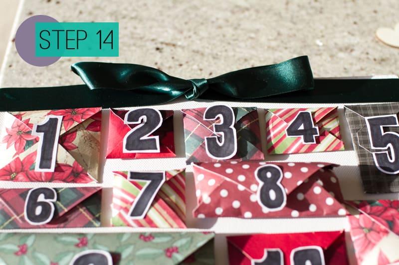 DIY How To Make A Christmas Advent Calendar with Envelopes-16