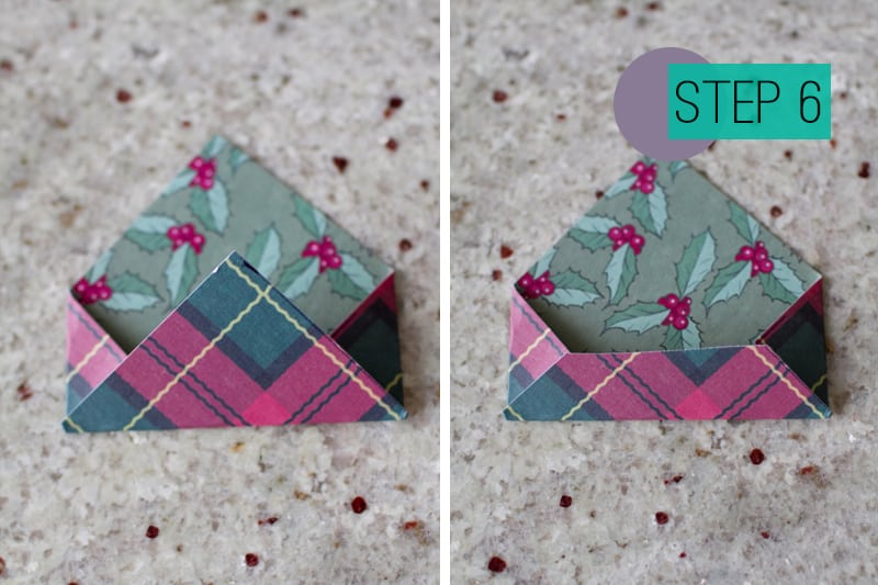 DIY How To Make A Christmas Advent Calendar with Envelopes-7