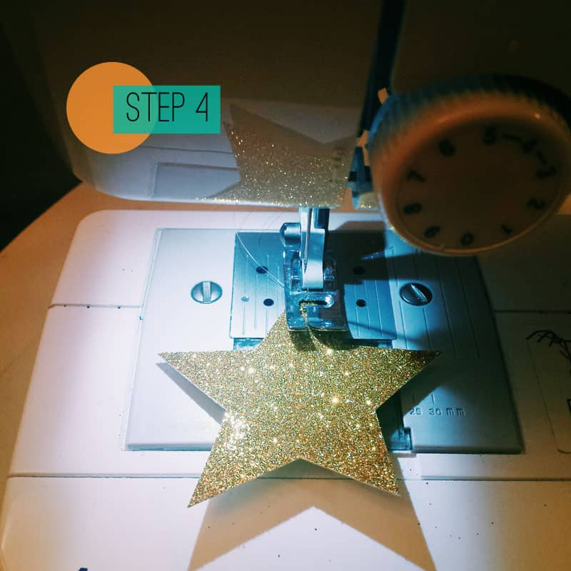 How to sew a christmas star garland