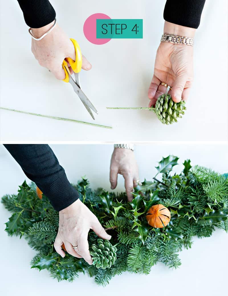 Step 4- Insert pinecone picks (2)