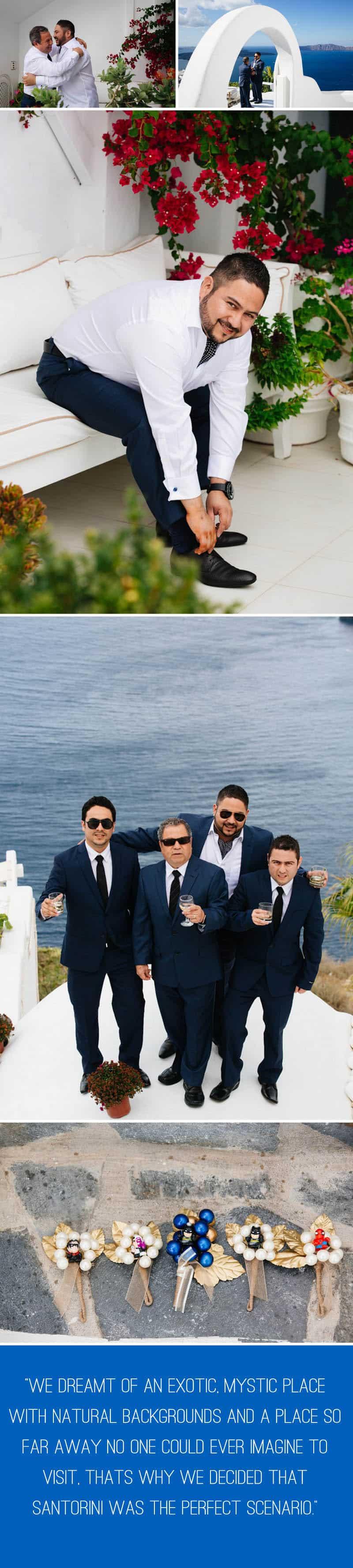 A Travel Themed Destination Wedding in Santorini 2