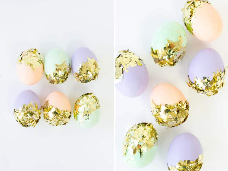 Studio DIY Glitter Dipped Easter Eggs