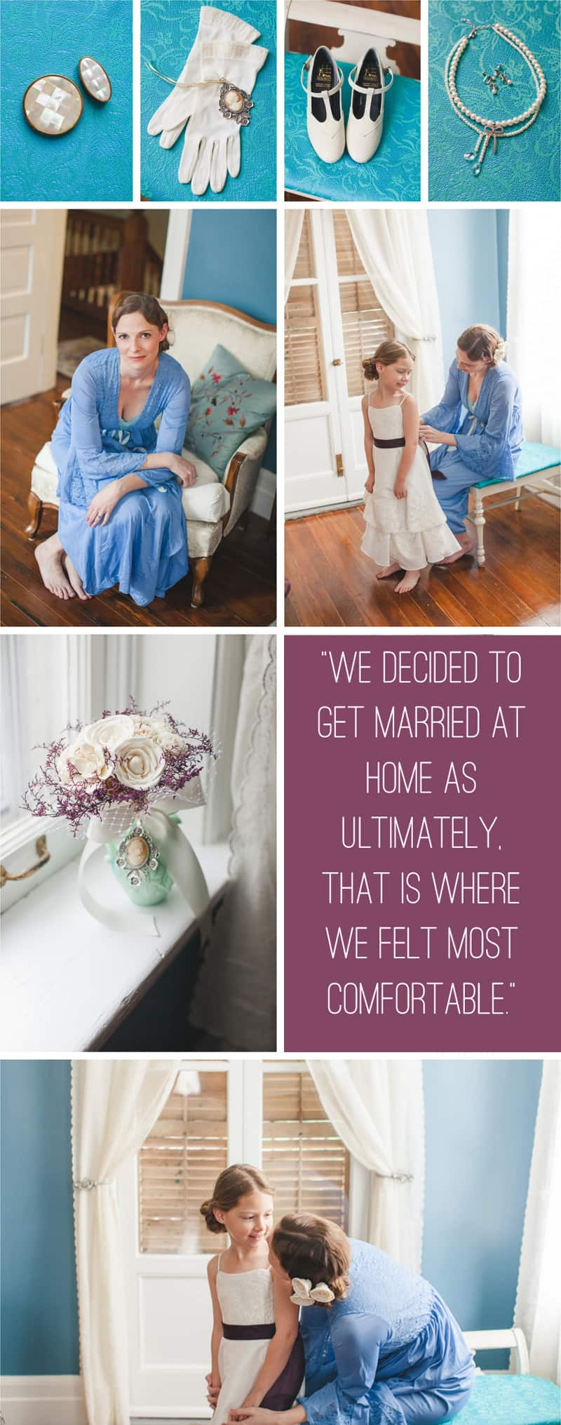A Purple Wedding Dress For a Backyard Wedding 2