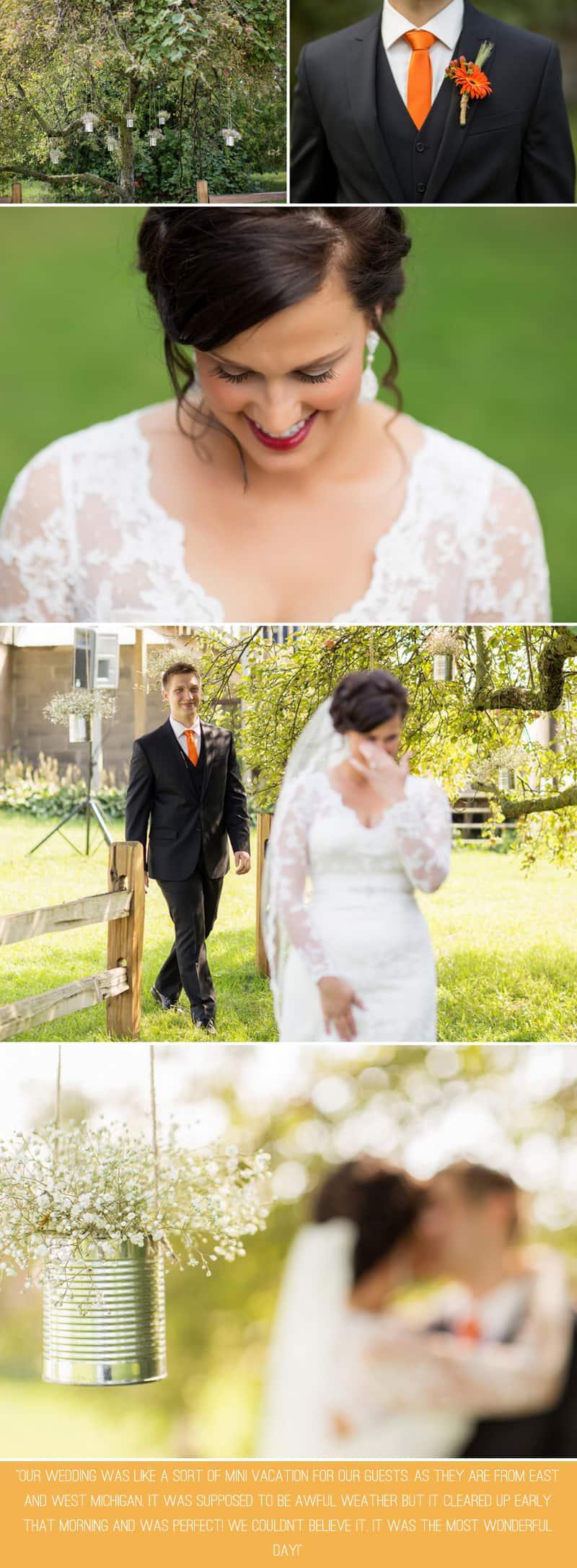A Romantic Fall Wedding in a Rustic Barn 2