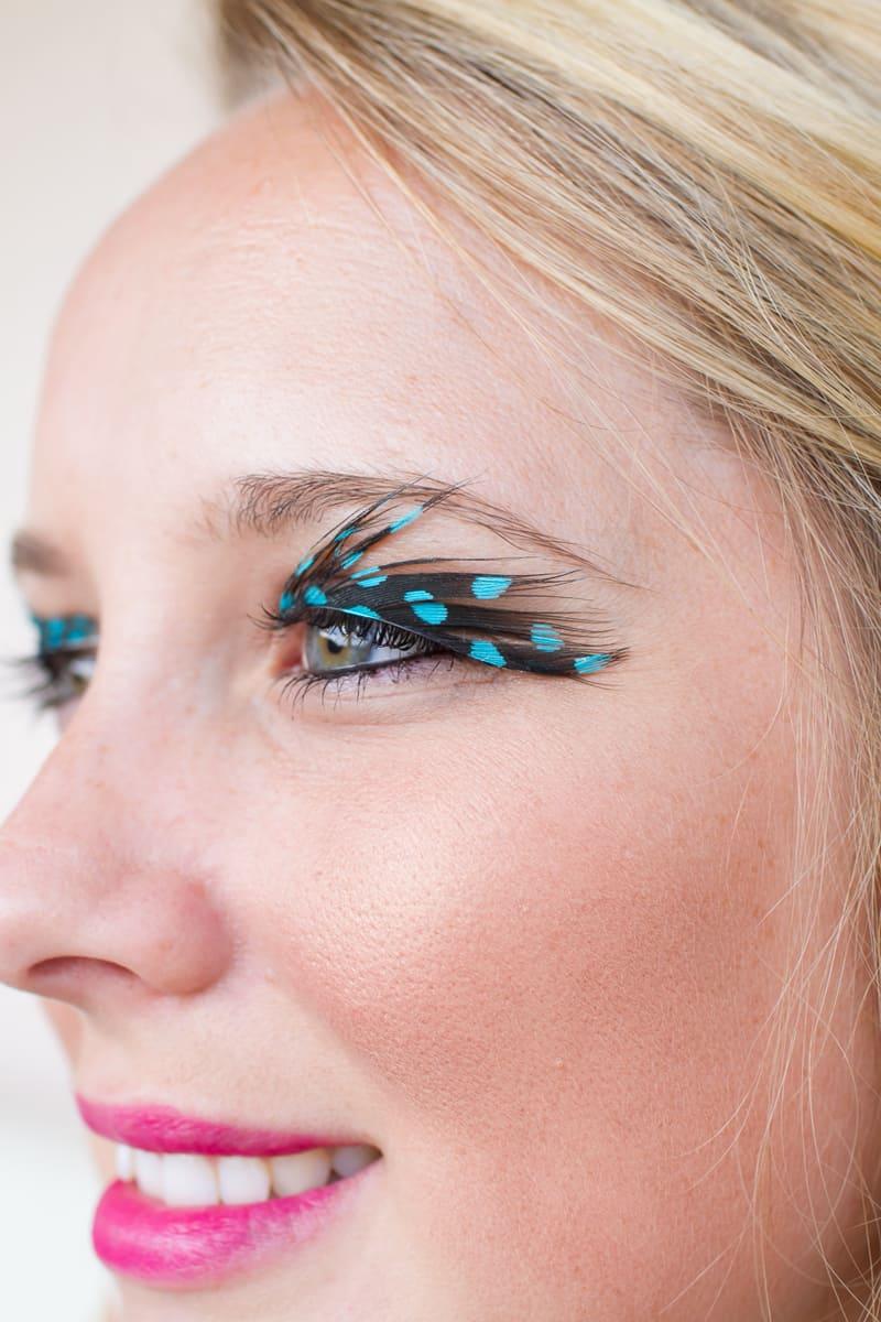 DIY Feather Eyelashes