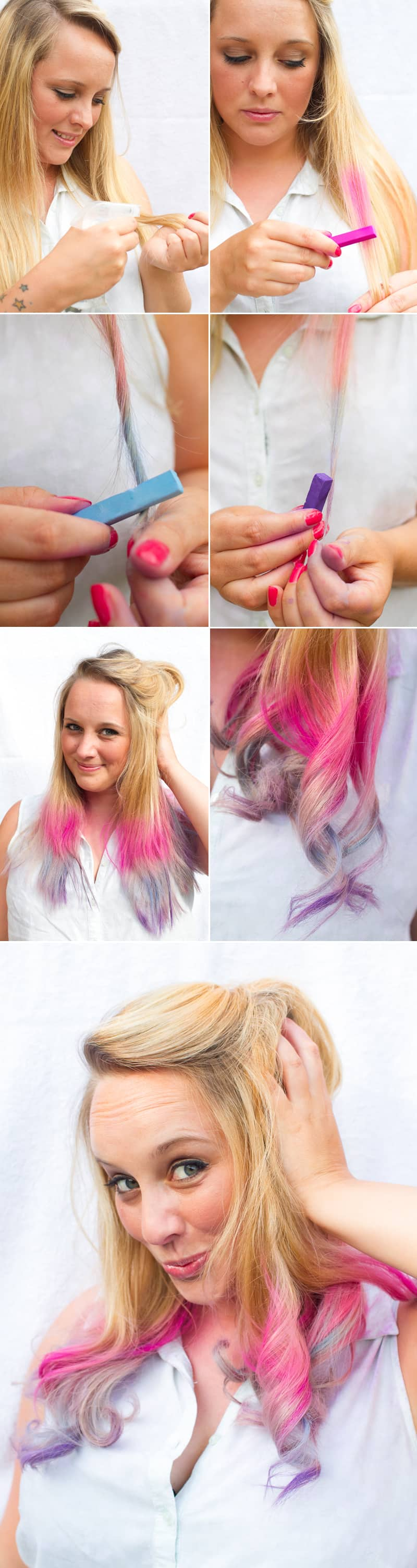 How to Ombre Chalk Blonde Hair