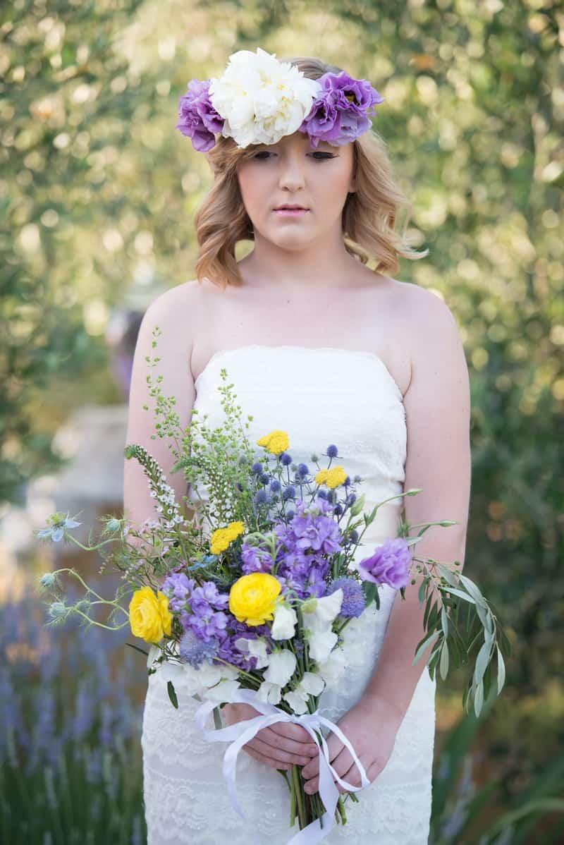 lavender and lemonade styled shoot