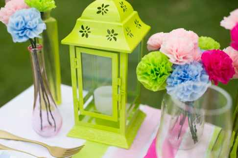 Neon Paper DIY Styled Shoot Paper Craft Wedding Inspiration 17
