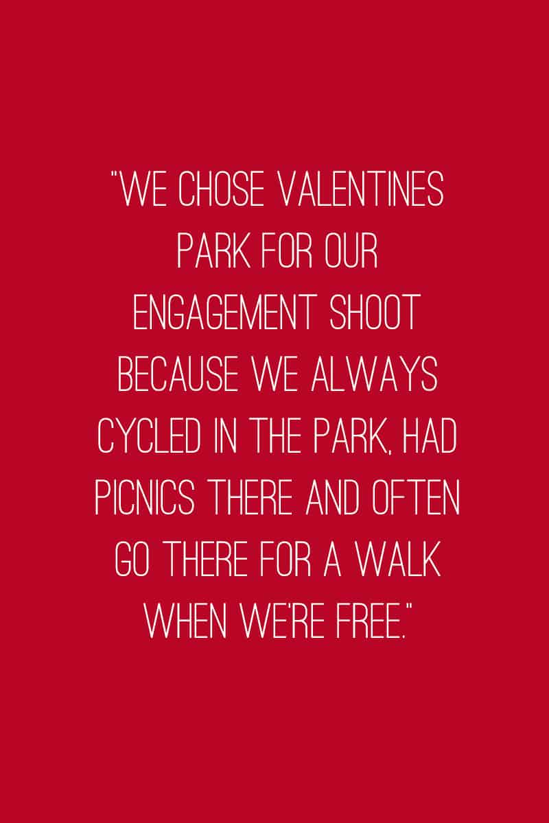Quirky and fun engagement shoot yellow balloon valentines park Quote 3