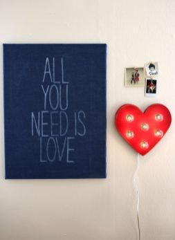 All You Need Is Love Sign DIY Tutorial