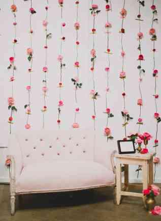 DIY Fresh Flower Wall