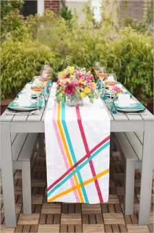 DIY Tape inspired art wedding chicks