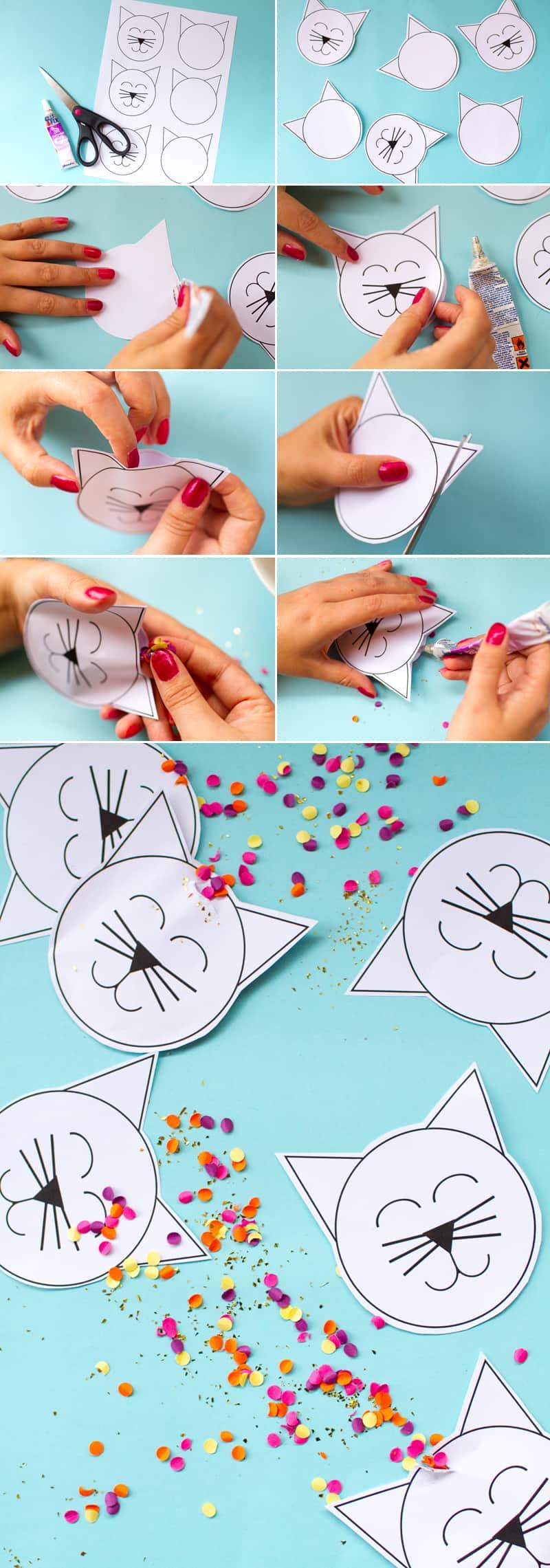 How to make unique Kitty Cat Confetti Pouches