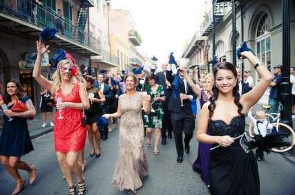New Orleans Wedding, second line wedding parade, brooch bouquet, diy wedding invitations, masquerade_-63