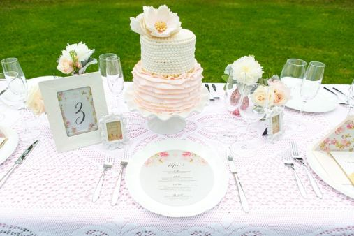 Romantic Blush Pink Styled Shoot Blushing Bride peach colour scheme 7