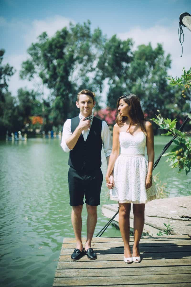 Pineapple Styled Summer Wedding Inspiration Bridal Fashion Unique Bride Lake