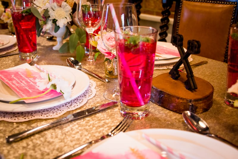 Pink, Glitter & Gold Styled shoot 57