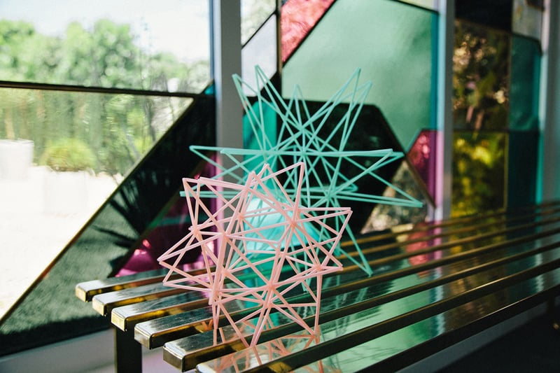 Colourful Geometric Wedding in LA (3)