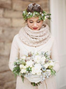 Winter Bride Wedding Inspiration Crown