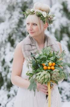 Winter Wedding Inspiration with Crown