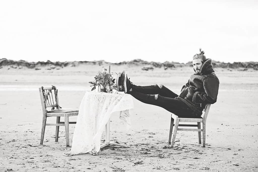 Bohemian Sequin Wedding Inspiration beach festival style 26