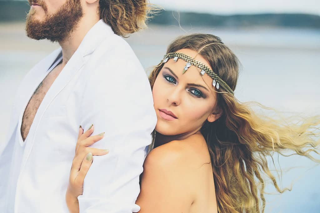 Bohemian Sequin Wedding Inspiration beach festival style 4