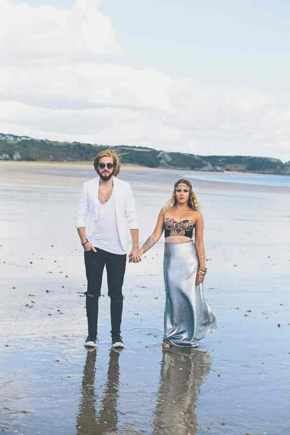 Bohemian Sequin Wedding Inspiration beach festival style 5