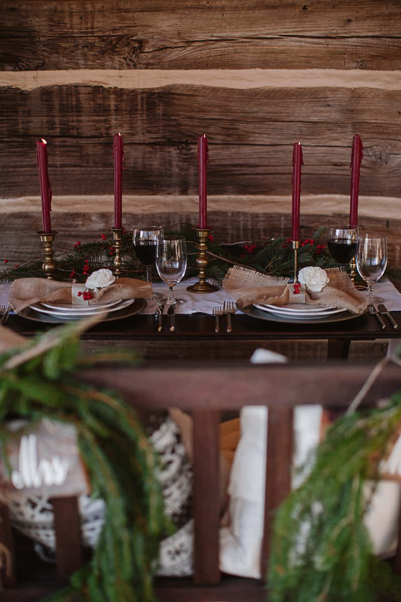 Christmas Bridal Brunch Log Cabin Hot Chocolate Festive Shoot-12