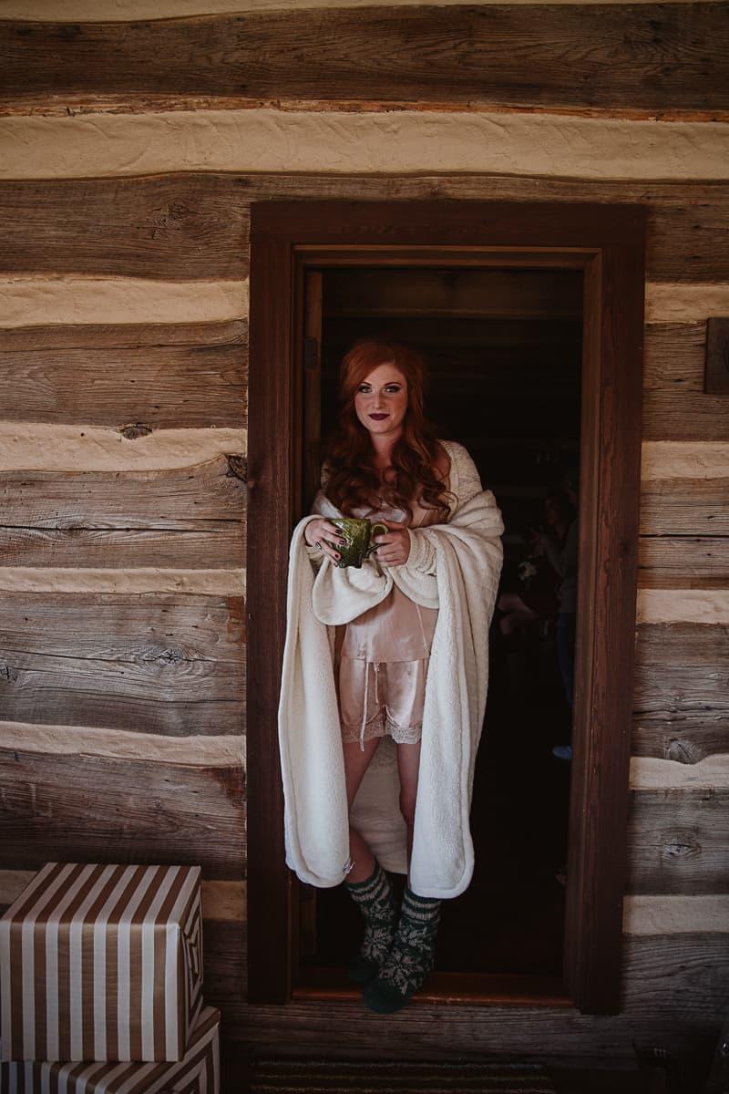 Christmas Bridal Brunch Log Cabin Hot Chocolate Festive Shoot-13
