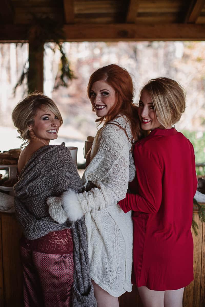 Christmas Bridal Brunch Log Cabin Hot Chocolate Festive Shoot-16