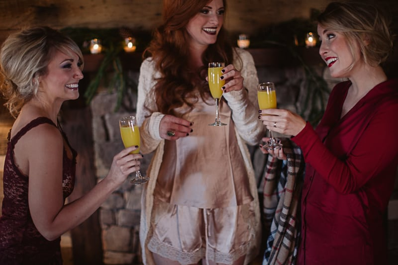 Christmas Bridal Brunch Log Cabin Hot Chocolate Festive Shoot 2-4